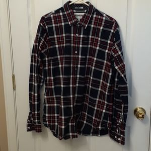 Mens Express Fitted Size XL Collar Button Down